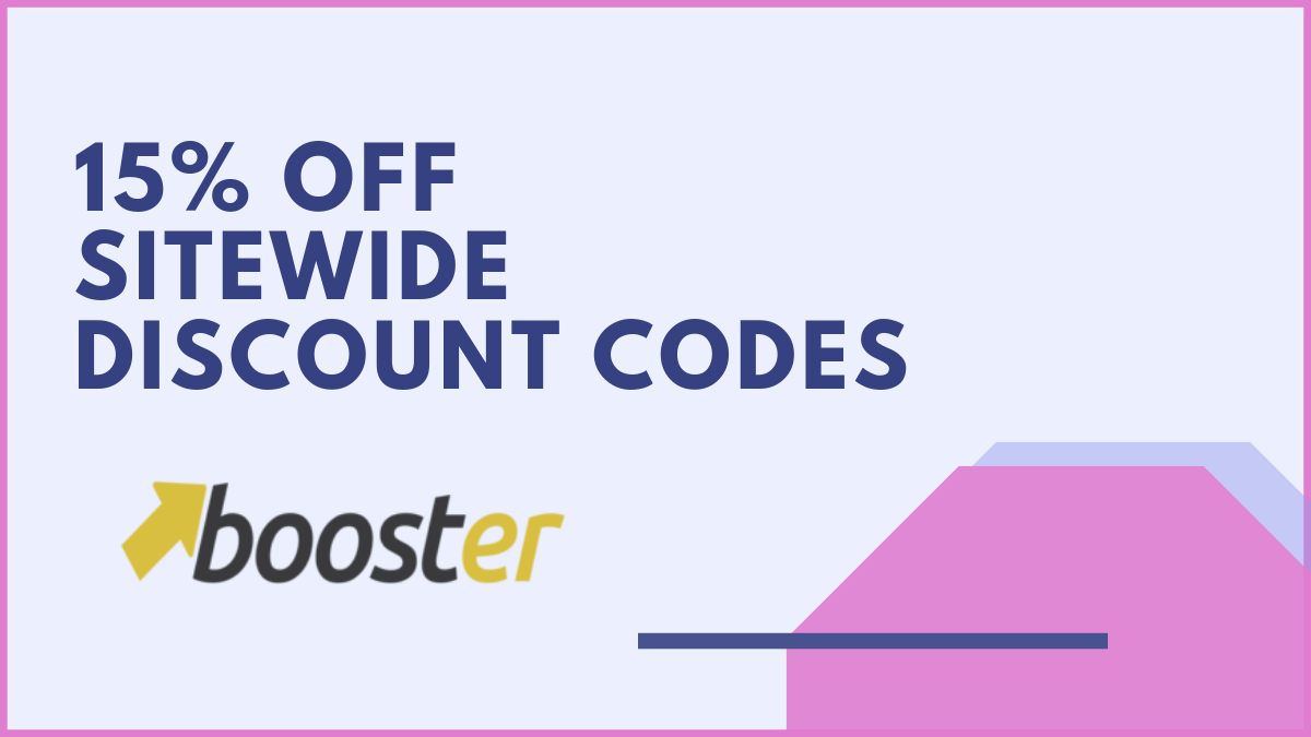Booster Theme Coupons (Verified 15% OFF Discount Code)