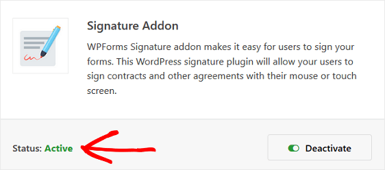 This image shows how to activate a signature field enabled form in your service agreements or lead gen forms