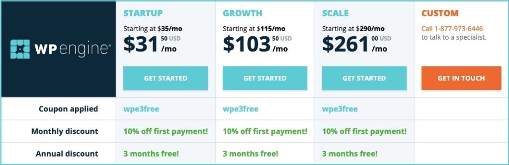 wpengine pricing special offer