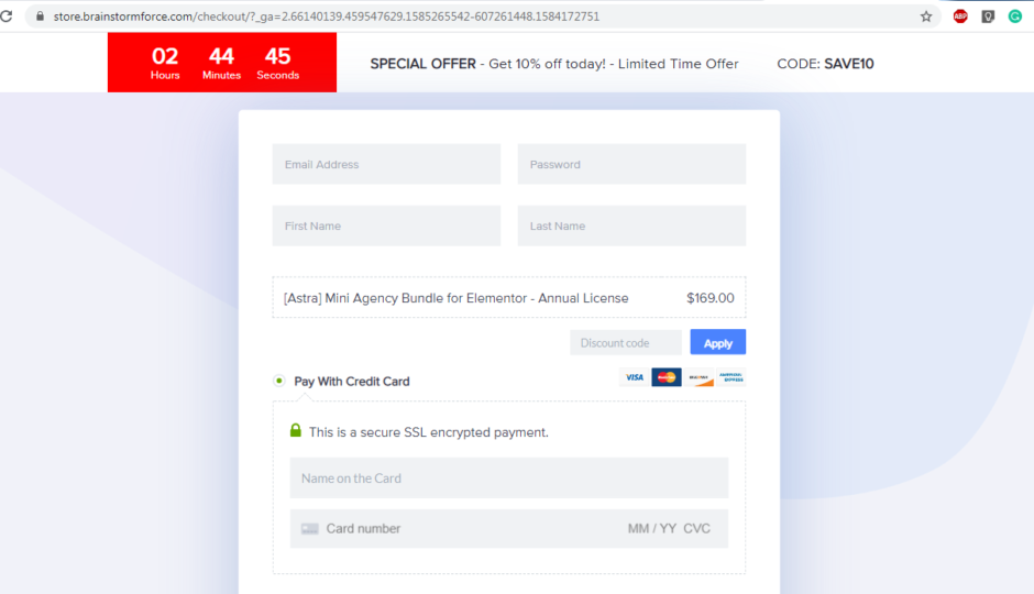 astra checkout page | astra coupon codes