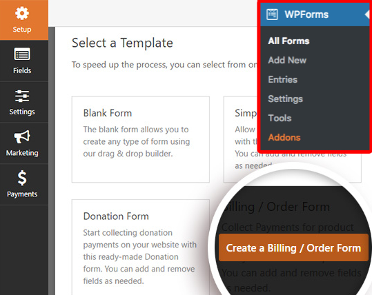 Create forms for wordpres with WPforms