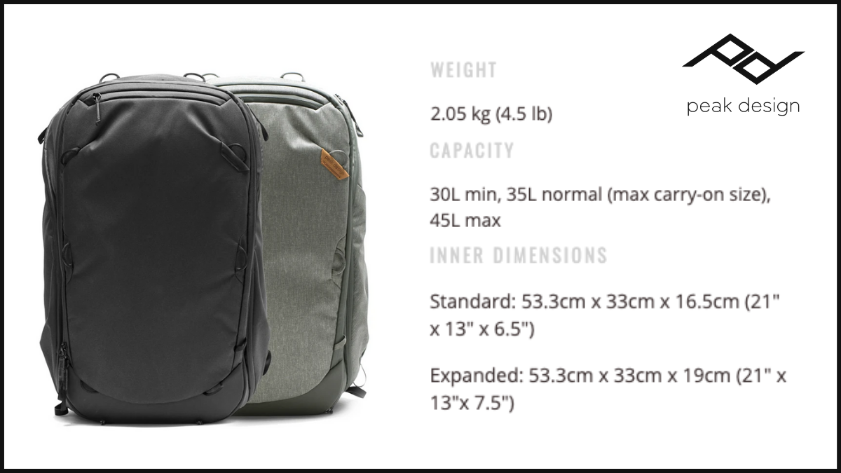 Peak Design (Travel Backpack)