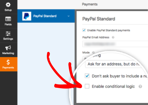 conditional logic | paypal and stripe payment on wordpress