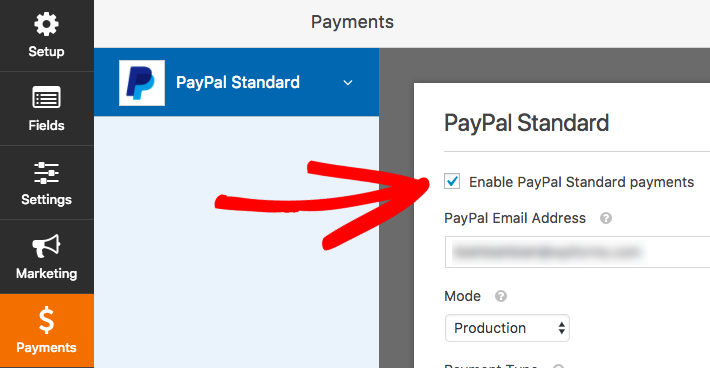 enable paypal payments on wordpress