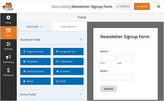 wpforms | activecampaigns | newsletter sign up forms