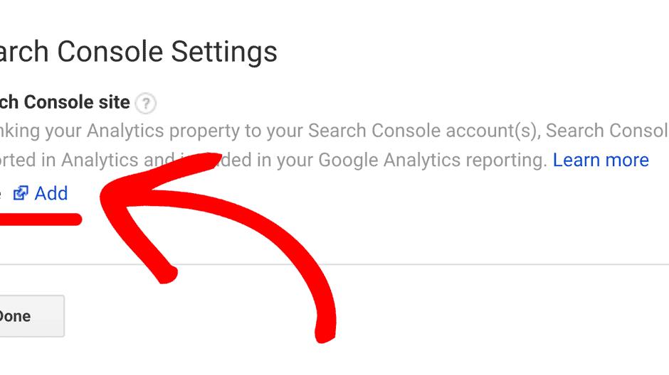 add google search console to wordpress site