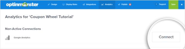 google analytics for optinmonster