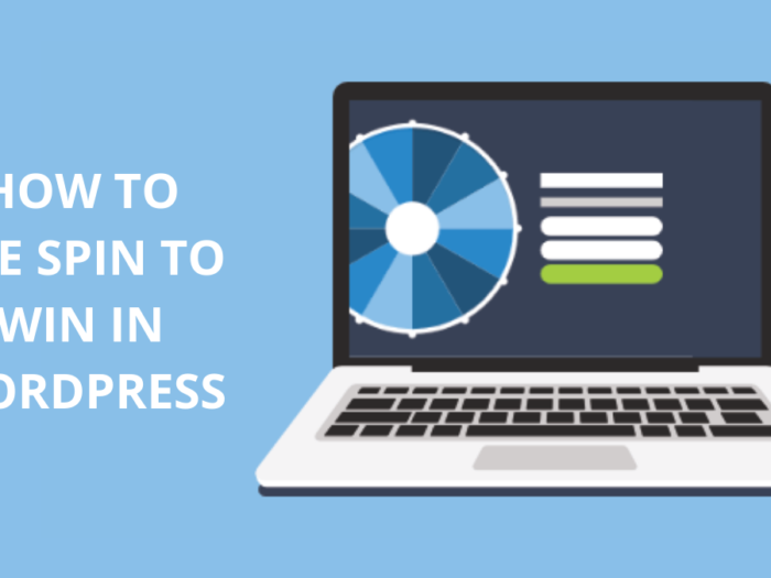 how to use spin to win in wordpress