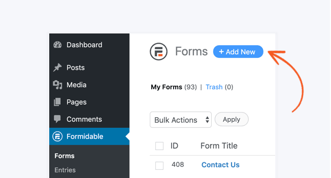 add new formidable forms