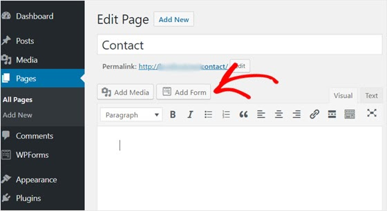 add contact form to webpage | wpforms