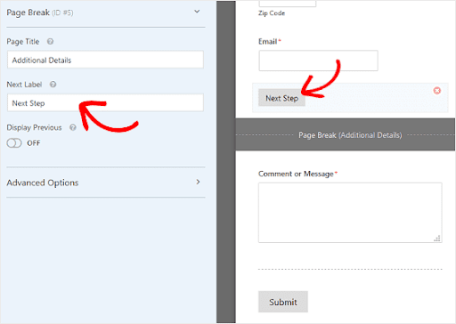 customize multipage forms in wordpress