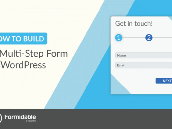 how to create a multi-part form on wordpress with formidable forms