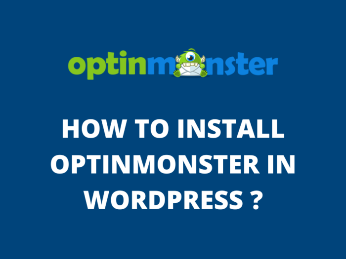 how to install optinmonster in wordpress