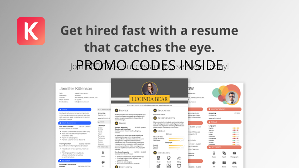 Kickresume Promo Codes (Verified 20% OFF Coupon Codes)