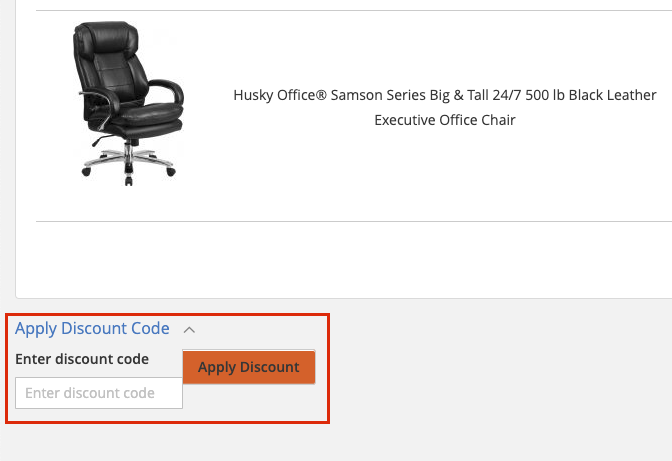husky office checkout page