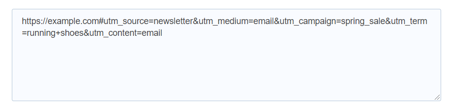 custom url in google analytics example