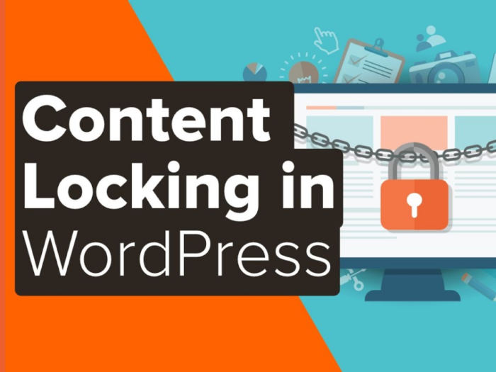 how to add content locking in wordpress?