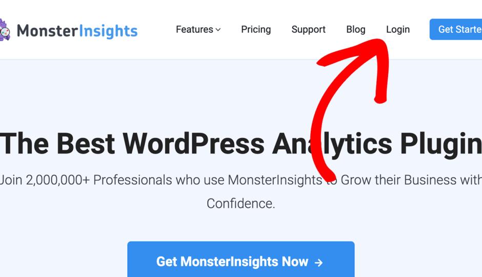 monsterinsights login