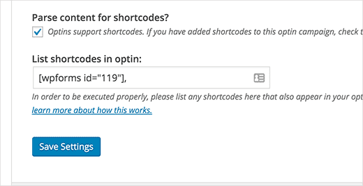 parse content for shortcodes
