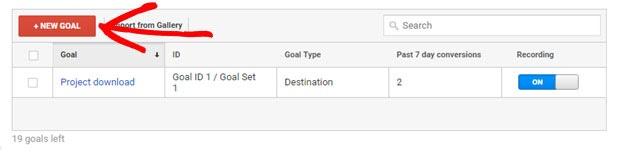 set new goals in google analytics