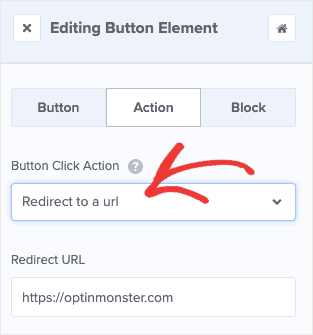 set up announcement bar action in optinmonster
