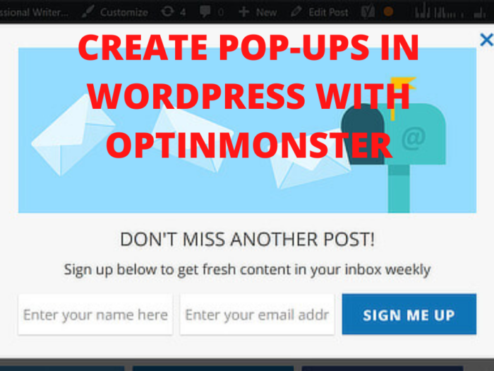 how to create popups in wordpress with optinmonster