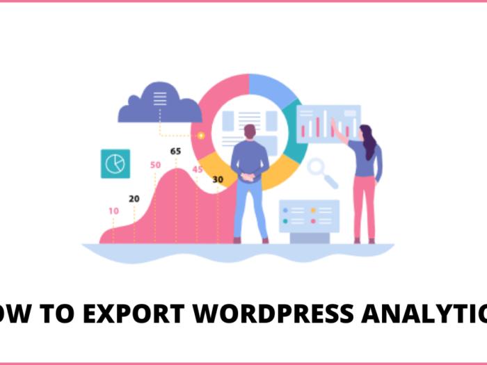 how to export wordpress analytics