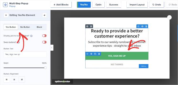 customize multi step pop ups in wordpress