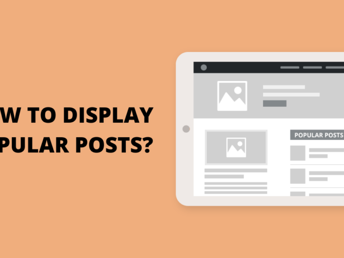 how to display popular post