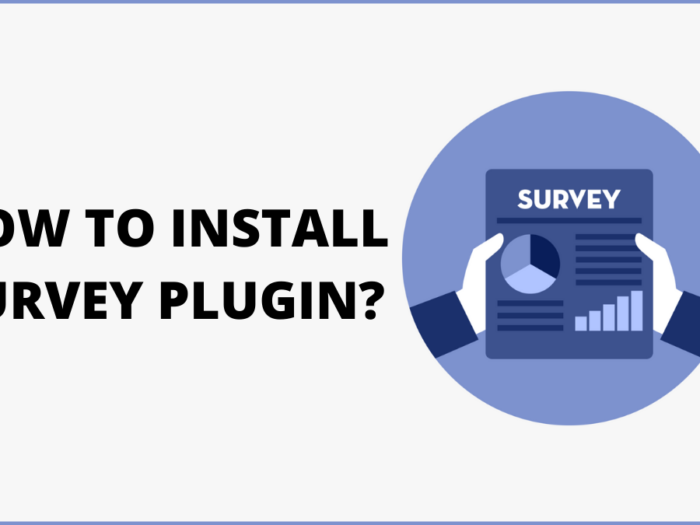 how to install survey plugin