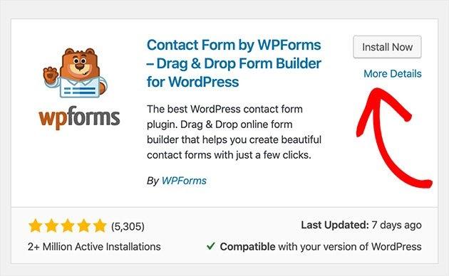 install wpforms contact form builder