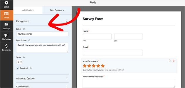 how to create survey forms in wordpress