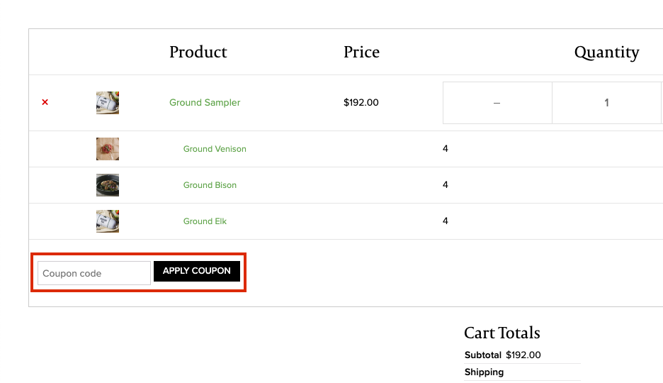 the honest bison checkout page