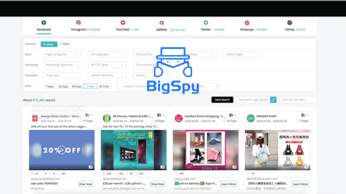 BigSpy Coupon Code (Verified 20% OFF Discount Codes)