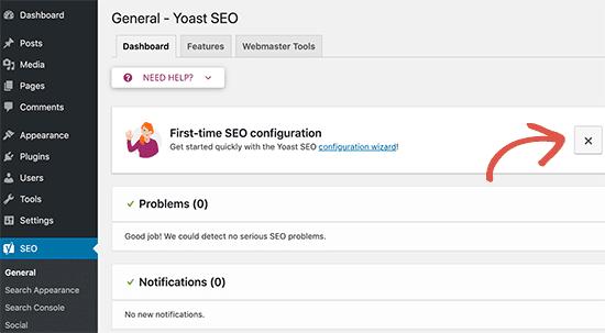 how to customize yoast seo settings in dashboard