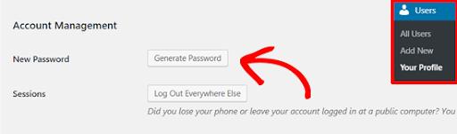 how to generate secured wordpress password