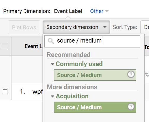 track form submission source in google analytics
