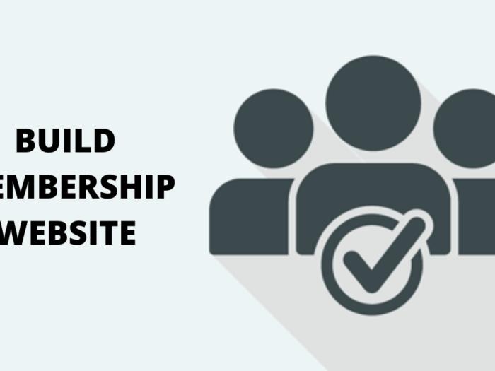 how to build a membership website