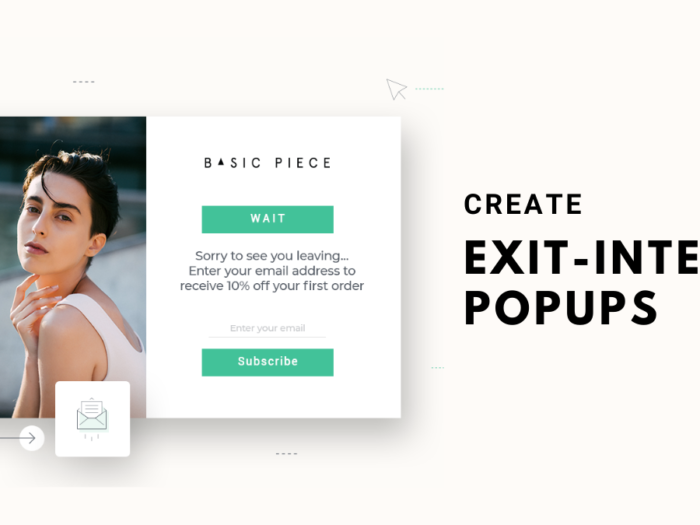 how to create exit-intent popups