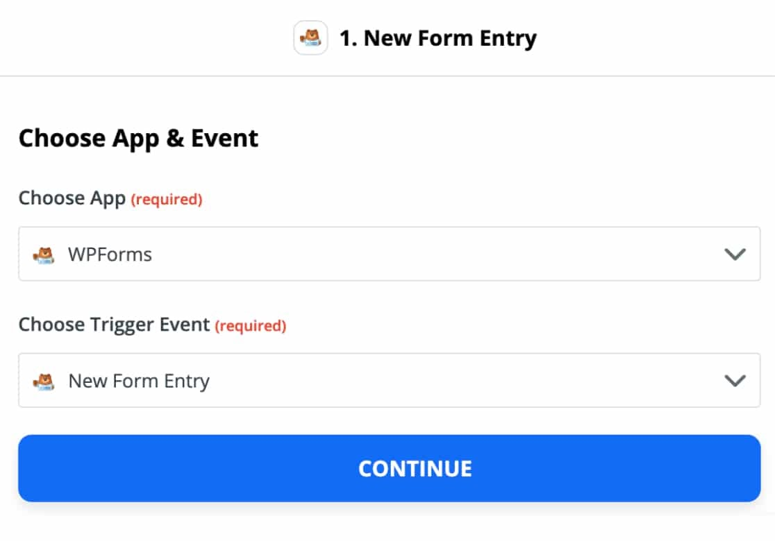 create new form entry