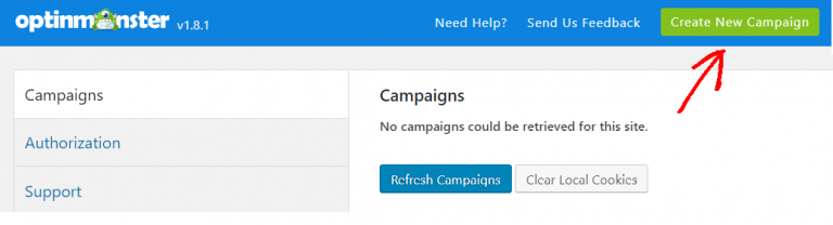 create new campaign for content