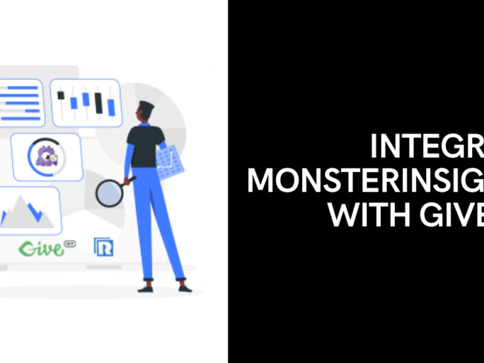 integrate monsterInsights with givewp