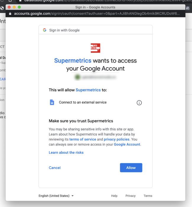 supermetrics data studio integration API