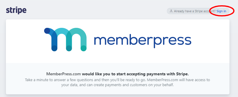 connect with stripe in memberpress
