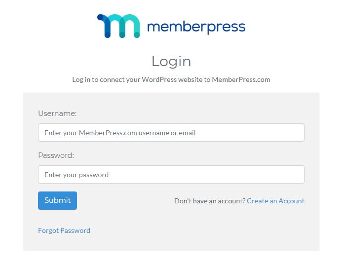 memberpress login panel