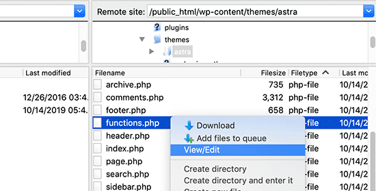 configure wordpress url settings via ftp client