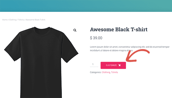 customize products on woocommerce websites