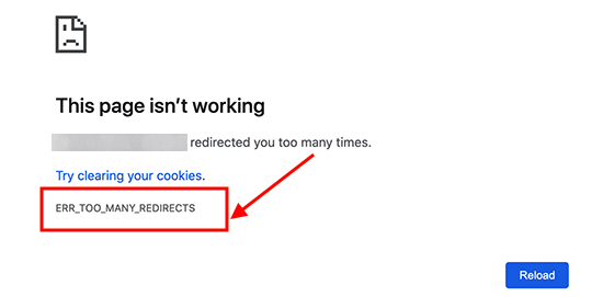 too many redirect error on wordpress