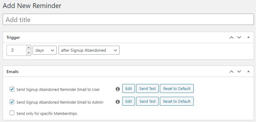 how to create reminders in memberpress