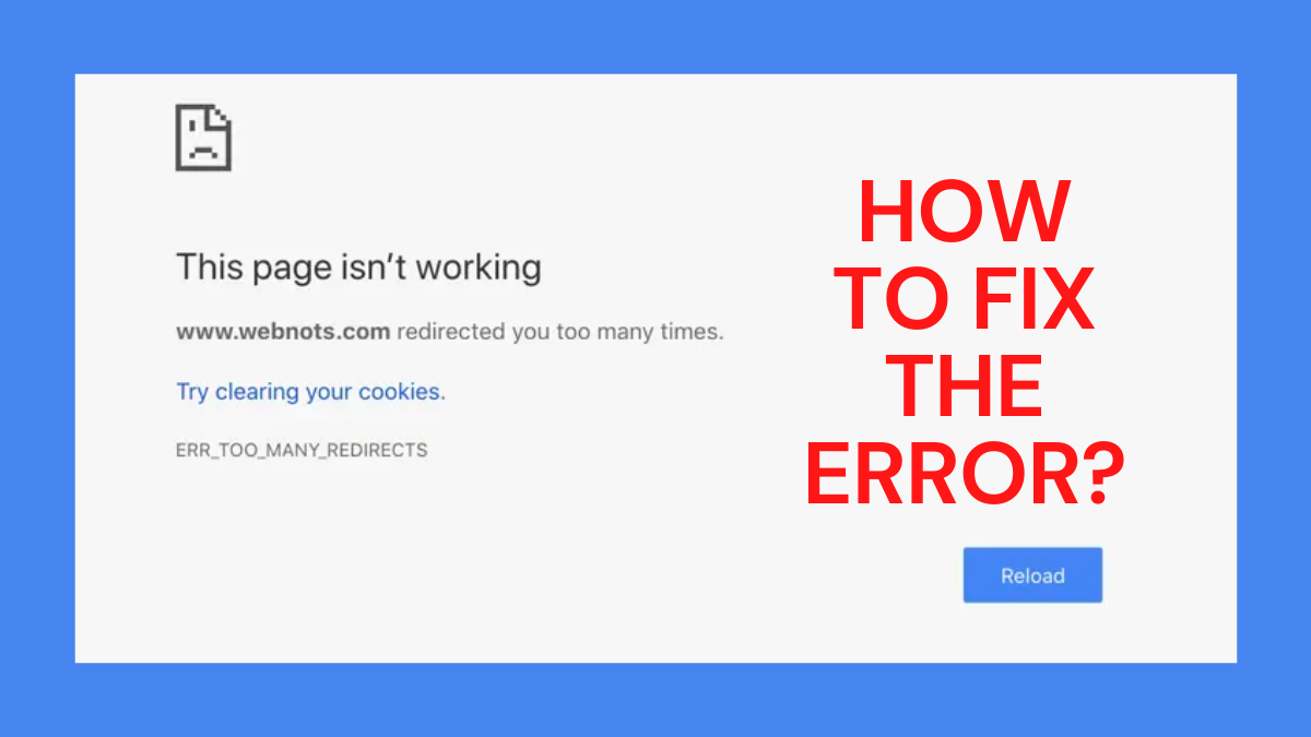 How to Fix Error_Too_Many_Redirects For WordPress